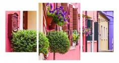 Набор из 3 панно (100х550 см) Цветы и окна 174357М55100 Ekoramka