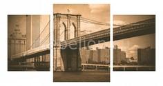 Набор из 3 панно (100х550 см) Бруклинский мост ретро 174279М55100 Ekoramka