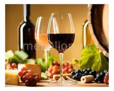 Панно (50х40 см) Вино и бочка 1744072К5040 Ekoramka