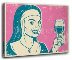 Панно (40х50 см) Бокал вина 1137090 Ekoramka