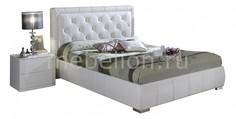 Кровать двуспальная Cinderella 1.8 белый Dupen