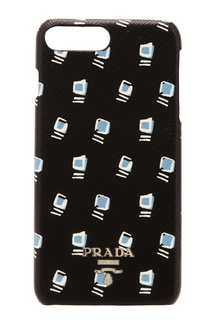Кожаный чехол для смартфона Prada