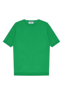 Зеленый джемпер с короткими рукавами Prada
