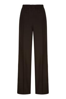 Черные брюки с эластичным поясом Prada