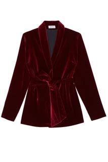 Бордовый бархатный костюм ЛИ ЛУ