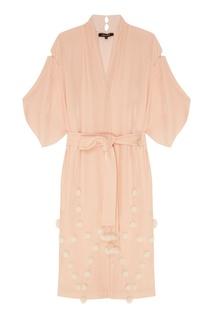 Розовый бархатный халат Esve