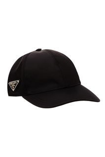 Черная бейсболка Prada