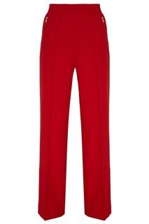 Красные брюки с эластичным поясом Prada