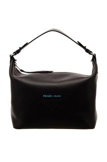 Черная сумка с логотипом Prada
