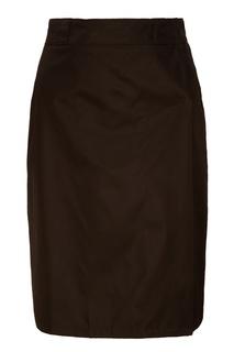 Черная юбка с запахом Prada
