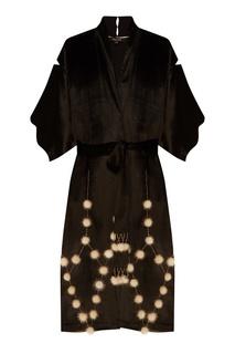 Черный бархатный халат Esve