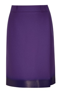 Синяя юбка с запахом Prada