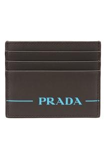 Серая визитница Prada