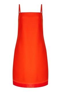 Красное платье на бретелях Prada