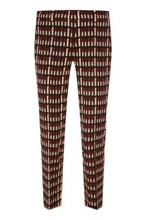 Укороченные брюки с принтом Prada