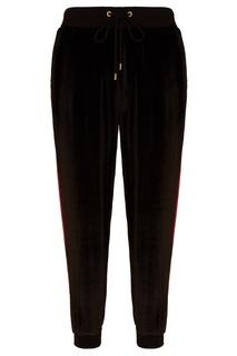 Черные брюки из бархата Laroom