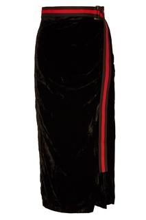 Черная бархатная юбка Laroom