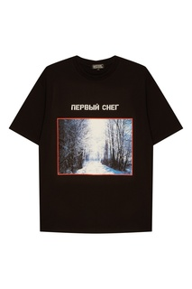 Черная футболка с фотопринтом Artem Krivda