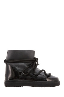 Черные кожаные сапоги Inuikii