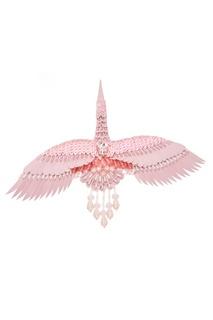 Розовая брошь в виде журавля Nebo