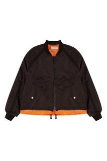 Короткая черная куртка oversize Jieda