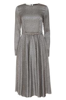 Платье миди с контрастным принтом Alexander Terekhov