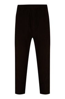 Черные хлопковые брюки с карманами Jieda