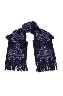 Синий шерстяной шарф Jieda
