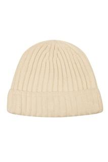 Белая фактурная шапка Tegin