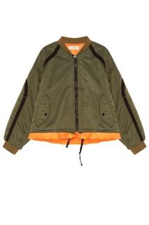 Зеленая куртка Jieda