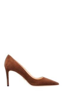 Коричневые замшевые туфли Prada