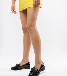 Туфли на плоской подошве с бантом для широкой стопы ASOS DESIGN - Черный