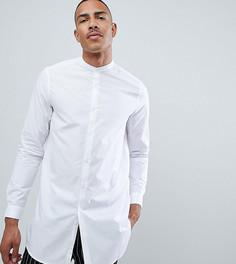 Белая супердлинная рубашка классического кроя с воротником на пуговицах ASOS DESIGN TALL - Белый