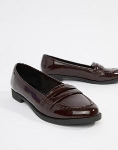 Туфли на плоской подошве ASOS DESIGN Minny - Красный