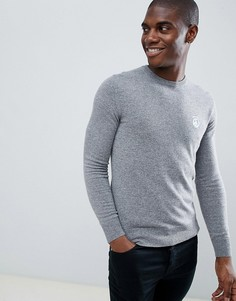 Джемпер с логотипом на груди Love Moschino - Серый