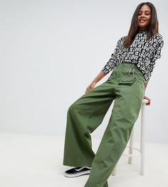 Широкие брюки цвета хаки со съемной сумкой ASOS DESIGN Tall - Зеленый