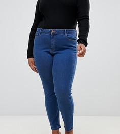 Синие джинсы скинни с завышенной талией ASOS DESIGN Curve Ridley - Синий