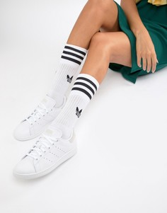 Бело-розовые кроссовки adidas Originals Stan Smith - Белый