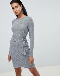 Платье с узлом сбоку Y.A.S Tallo - Серый