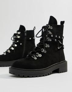 Черные походные ботинки с массивной подошвой RAID Perrie - Черный