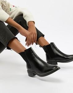Черные ботинки челси с заклепками RAID - Черный