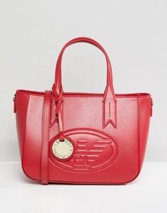 Маленькая сумка с молнией Emporio Armani - Красный