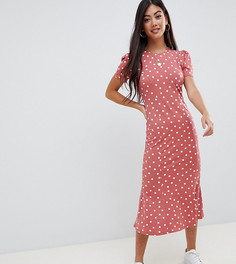 Чайное платье макси в горошек ASOS DESIGN Petite - Мульти