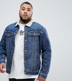 Джинсовая куртка с подкладкой из искусственного меха Lee PLUS - Синий