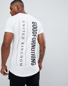 Обтягивающая футболка с логотипом на спине Good For Nothing - Белый