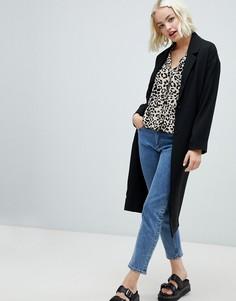 Черное легкое пальто Monki - Синий
