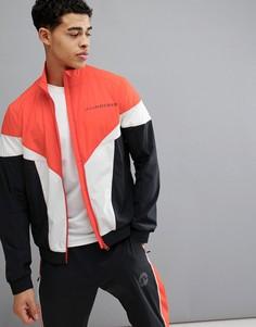 Красная мягкая куртка в стиле ретро J.Lindeberg Activewear - Красный