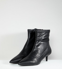 Полусапожки на каблуке-рюмочке с заостренным носком Free People Marilyn - Черный