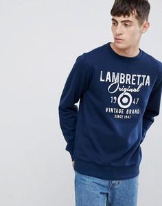 Свитшот с логотипом Lambretta - Темно-синий