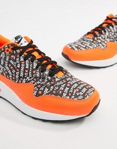 Оранжевые кроссовки премиум-качества Nike Air Max 1 875844-008 - Оранжевый